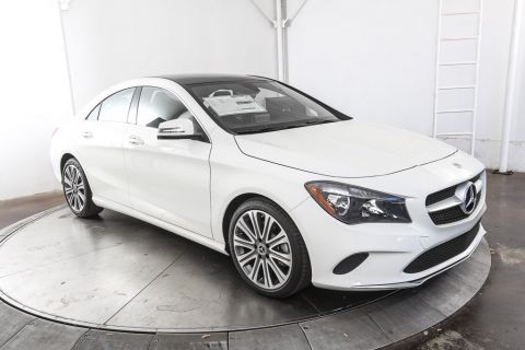 New 2018 Mercedes-Benz CLA250 Front Wheel Drive Coupe