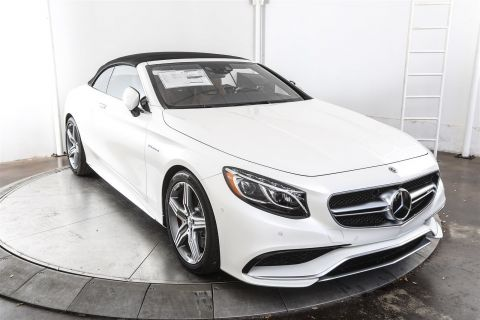 New 2017 Mercedes-Benz S-Class S 63 AMG® Cabriolet Rear Wheel Drive CABRIOLET