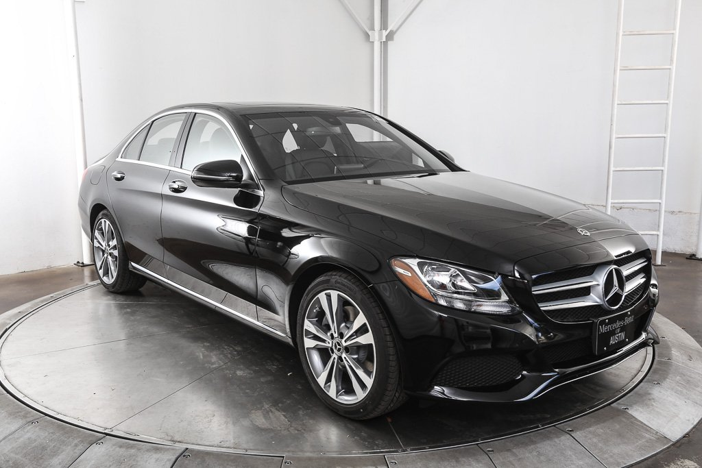 New 2018 mercedes benz c class c 300 sedan in austin for Mercedes benz c class service b
